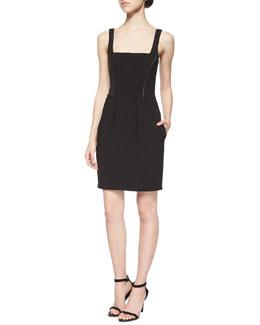 Karina Seamed-Waist Dress