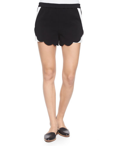 AJ Two-Tone Scalloped Shorts