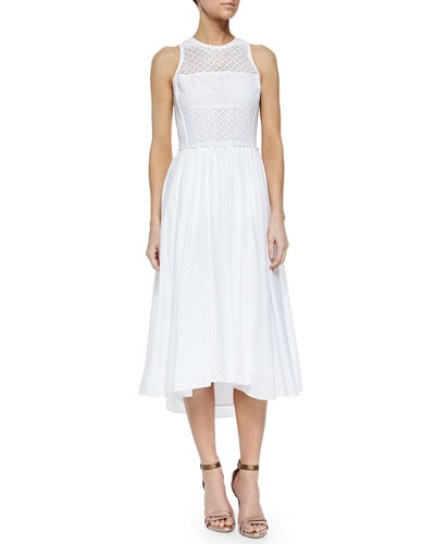 Masie Eyelet Dress, Sea Salt