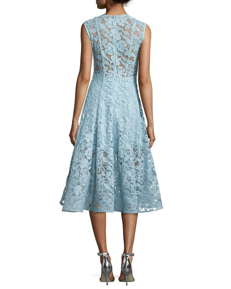 Derek A-Line Lace Cocktail Dress