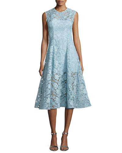 Derek A-Line Lace Cocktail Dress