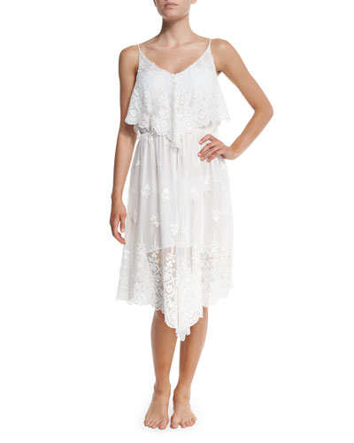 Lucia Sleeveless Embroidered Coverup Dress