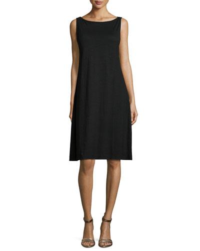Sleeveless Cotton Twist Tank Dress