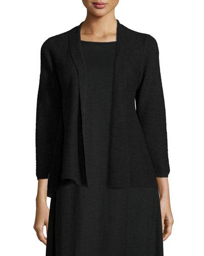 3/4-Sleeve Organic Linen Cotton Cardigan