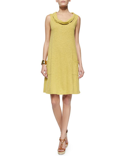 Sleeveless Cowl-Neck Dress, Women's