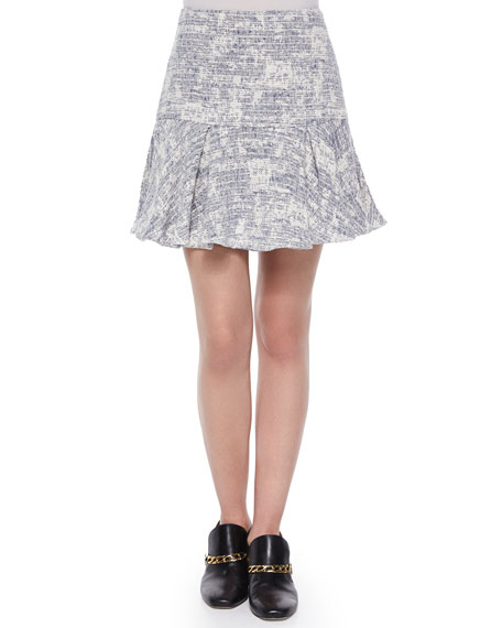 Derek Lam 10 Crosby Cotton-Blend Fit-and-Flare Skirt
