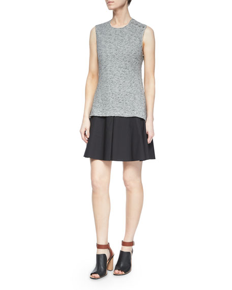 Derek Lam 10 Crosby Sleeveless Cutout-Back Flared Skirt