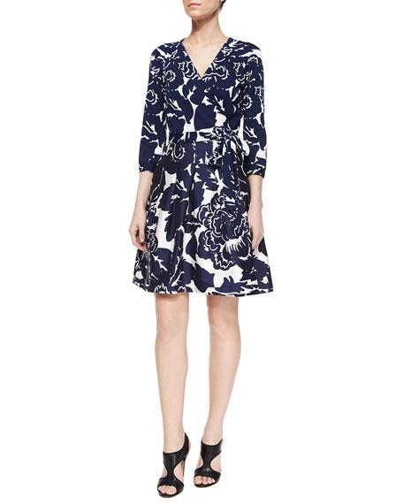 Diane von Furstenberg Giant Floral-Print Wrap Dress