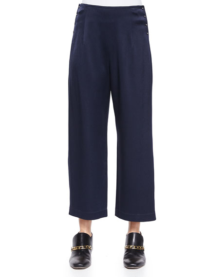 Derek Lam 10 Crosby High-Waist Cropped Trousers W/