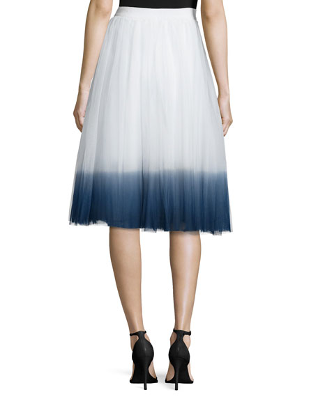 Sweet Pea Ombre Skirt, Chalk/Navy