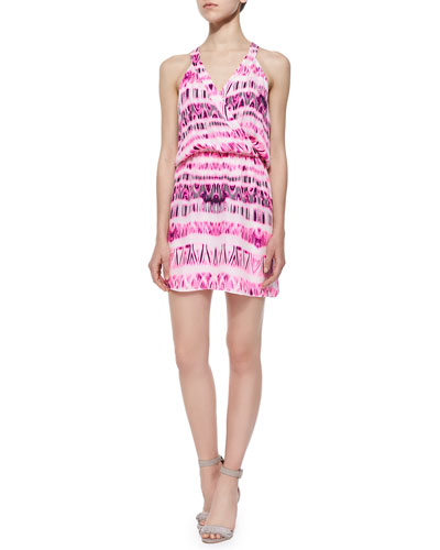 Kita Graphic Racerback Dress, Pop Pink Cosmos