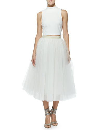 Everleigh Tulle Circle Skirt, Ivory