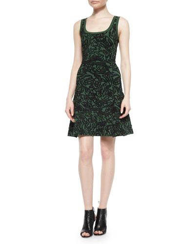 Cabbage Tank Flare Dress