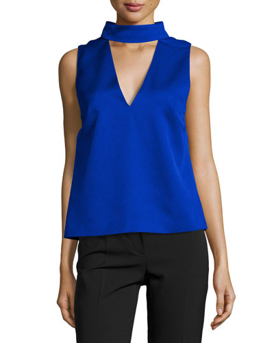 Say it Right Sateen Top, Cobalt