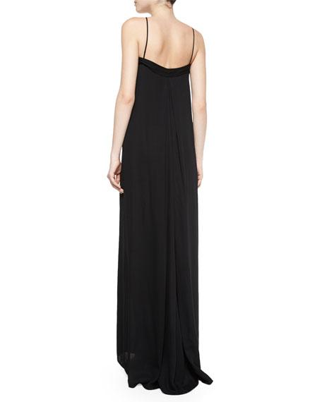 Lotus Maxi Shift Dress, Black