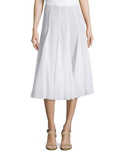 Pleated Dance Skirt, Optic White