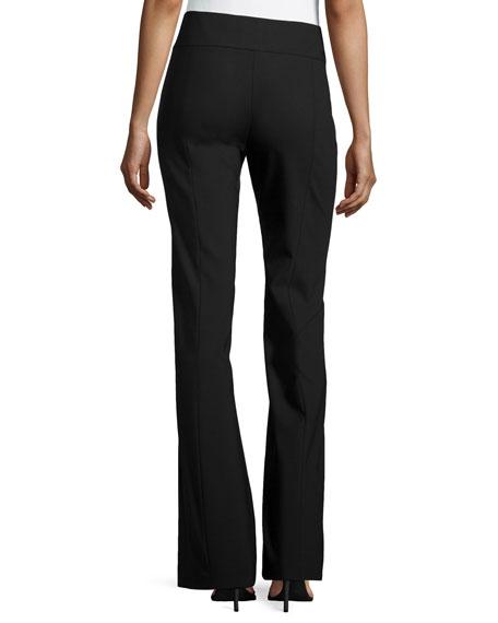 Side Zip Flare Pants, Black