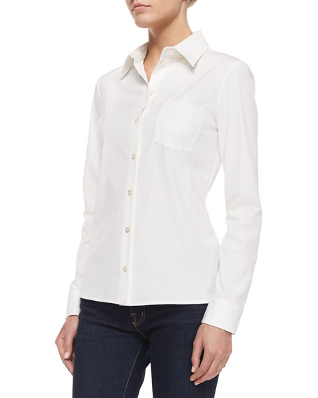 Classic Button-Down Shirt, Optic White