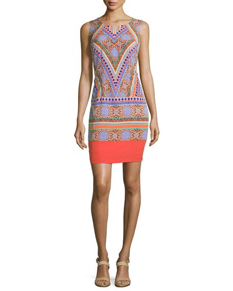 Amber Sleeveless Printed Shift Dress