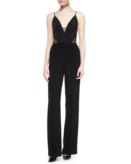 Noam HanochValentina Lace-Inset Jumpsuit, Black