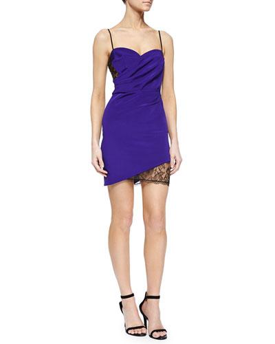 Regine Wrap-Front Dress, Ultra Violet