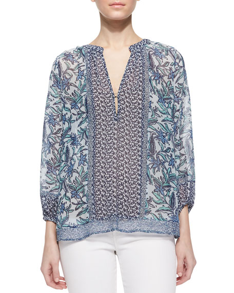 Yulisa Long-Sleeve Printed Blouse