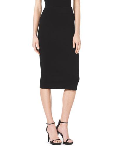 Formfitting Wool Tube Skirt