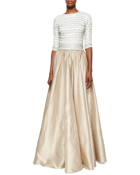 Full Satin Ball Skirt, Barley