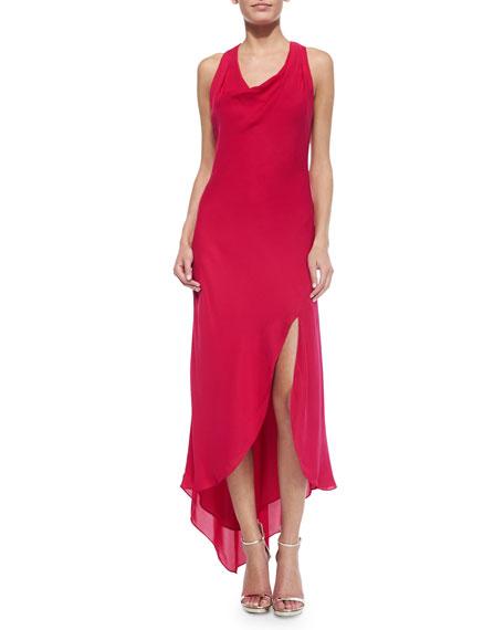Cowl Neck Silk Sheath Wedding Gowns: Haute Hippie Silk Sleeveless Cowl-Neck Dress