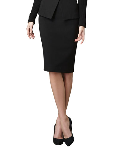 Knee-Length Pencil Skirt