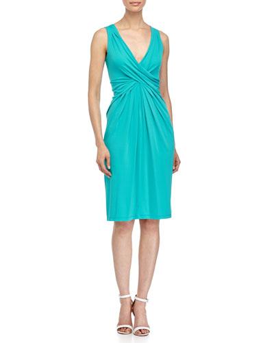 Crisscross Front Dress, Aqua