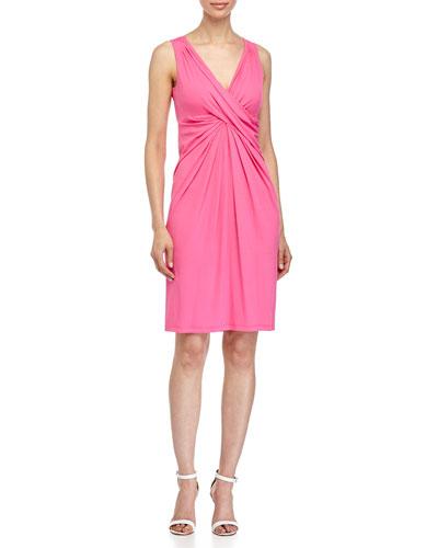 Crisscross Front Dress, Carnation