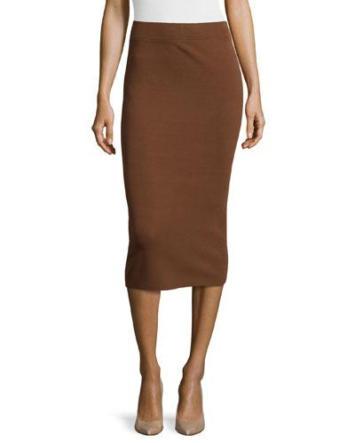 Fitted Tube Skirt, Nutmeg