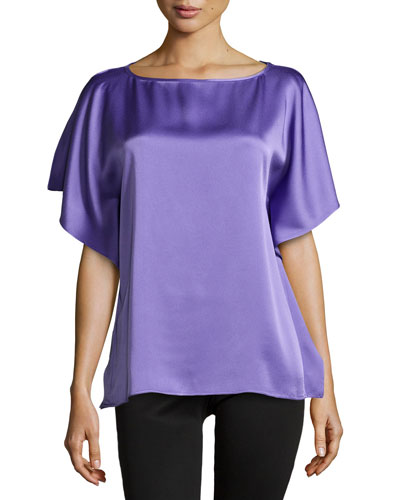 Dolman-Sleeve Tunic, Hyacinth