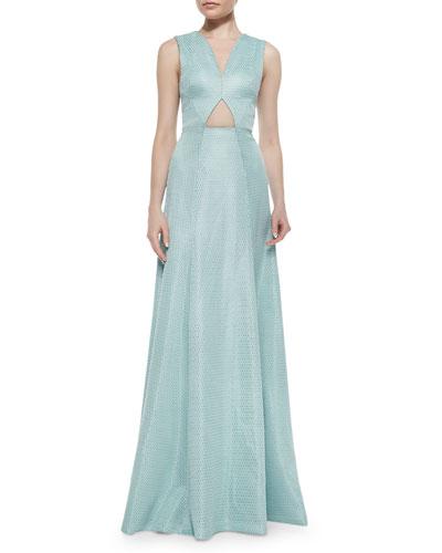 Vita Cutout Maxi Dress, Teal