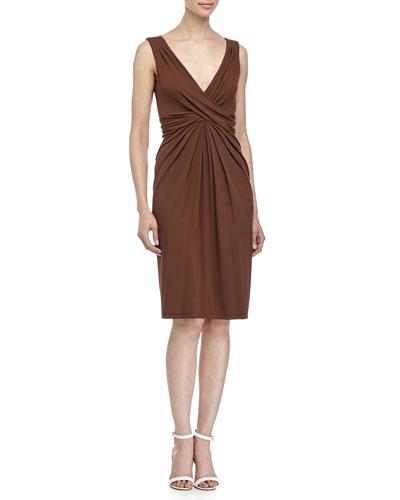 Crisscross-Front Dress, Nutmeg