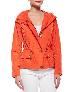Hooded Mini Anorak Jacket