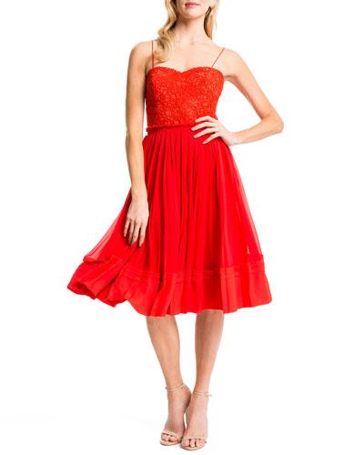 Riley Lace-Bodice Party Dress