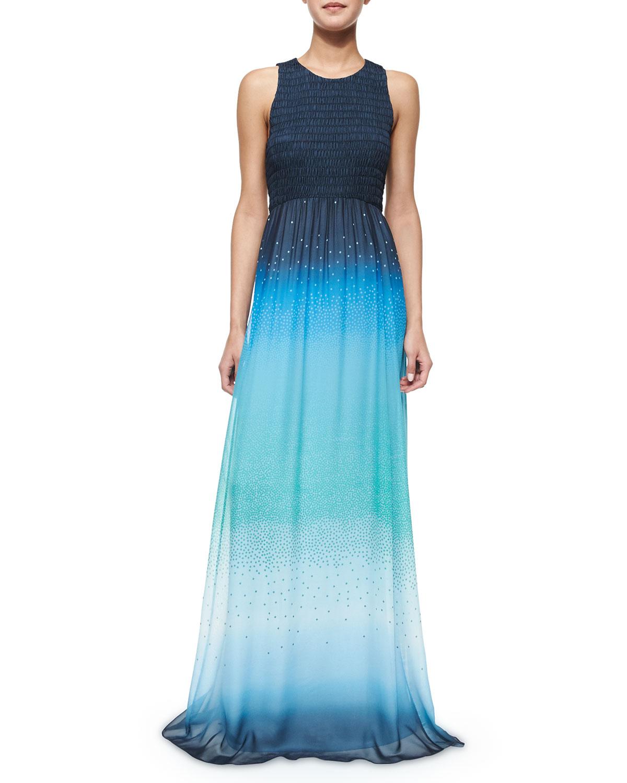 Diane Von Furstenberg Konfetti Ombre Maxi Dress Blue Neiman Marcus