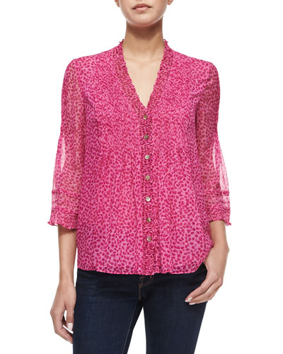 Layla Petal Dreams Printed Top, Pink