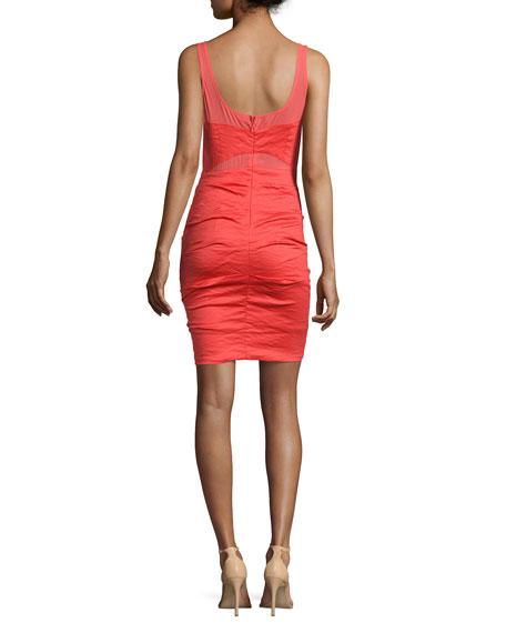 Sleeveless Combo Dress, Watermelon