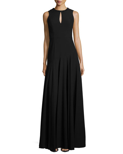 Blakely Keyhole Gown, Black
