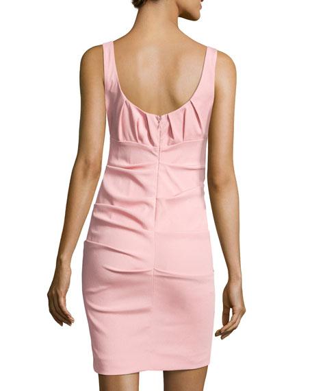 Sleeveless Sheath Dress, Light Pink
