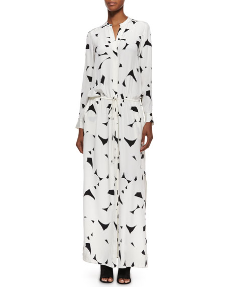 Vince Long-Sleeve Printed Maxi Dress