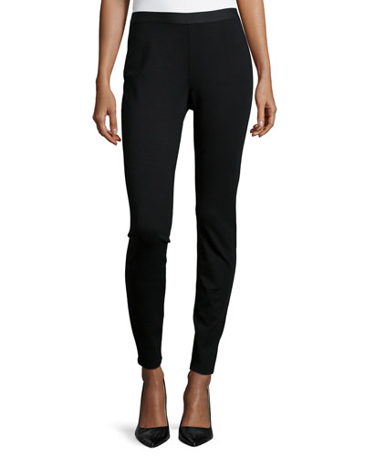 Stretch Ponte Leggings, Black