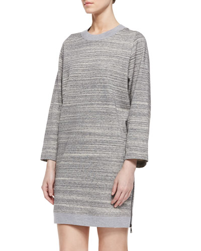 Melange Ribbed Knit Dress