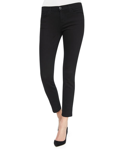 Current/Elliott The Stiletto Cropped Jeans, Jet Black