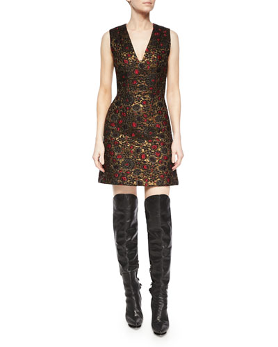 Holden A-Line Jacquard Dress