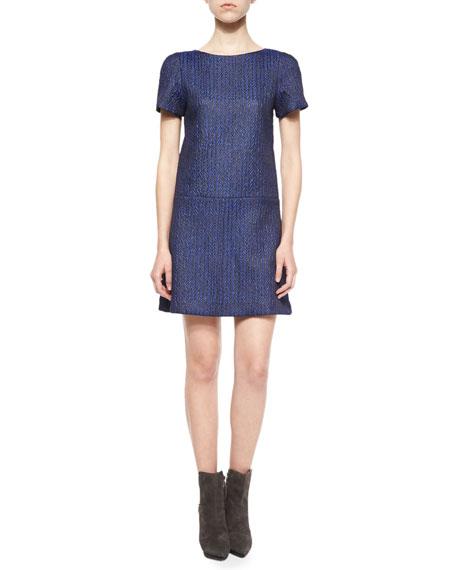 Alice + OliviaLiv Herringbone Drop-Waist Dress