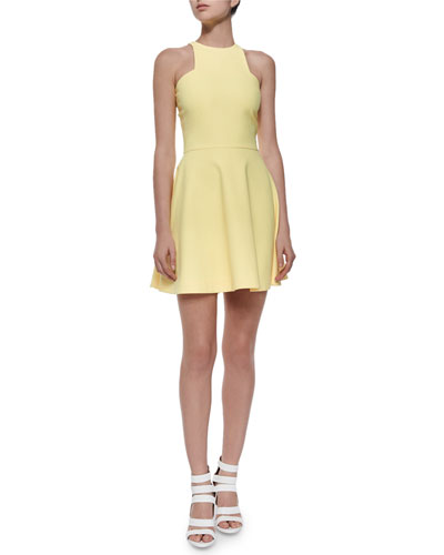 Clarissa Ponte Circle Dress, Yellow